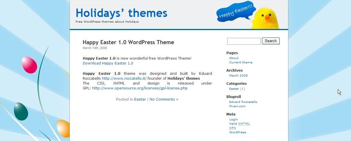 Happy Easter WordPress Theme