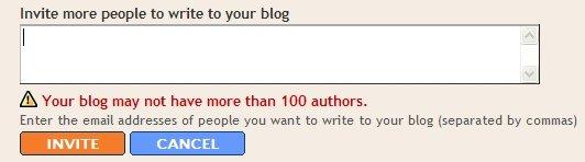 Blogger limite 100 autori