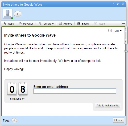 8 inviti Google Wave