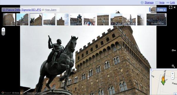 Firenze piazza della Signoria: foto utente in Street View