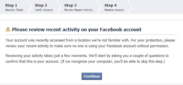 Facebook Roadblock