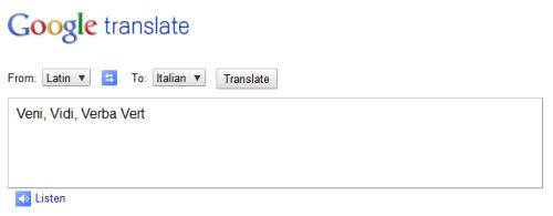 google translate latino-italiano