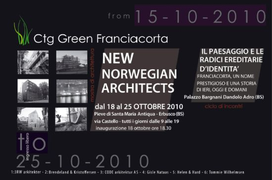 New norwegian architects - Erbusco - Brescia