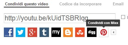 errore in condivisione YouTube