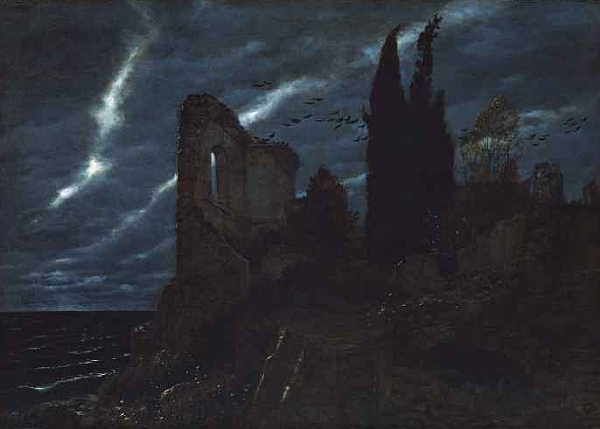 Arnold Böcklin, Ruine am Meer, Rovina sul mare,1880