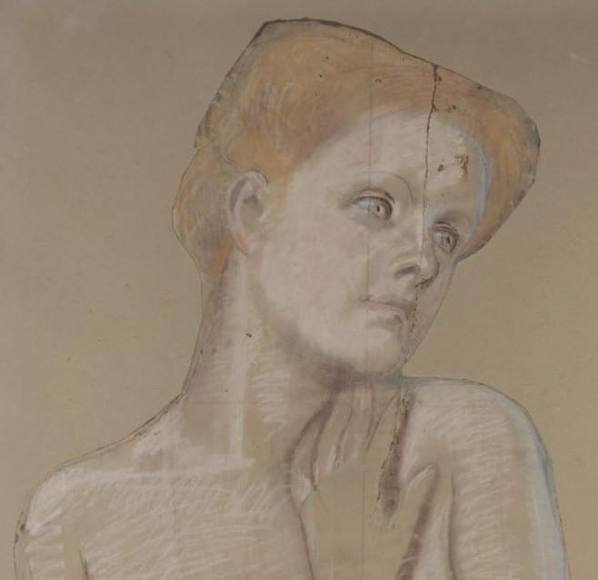Max Klinger - Figura femminile china, dettaglio