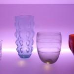 bicchieri luce lilla, la teca dei vetri, museo archeologico nazionale, Adria