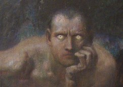 lo sguardo, Lucifero, Franz Von Stuck, National Gallery for Foreign Art di Sofia