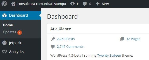 wordpress 4.5 beta1