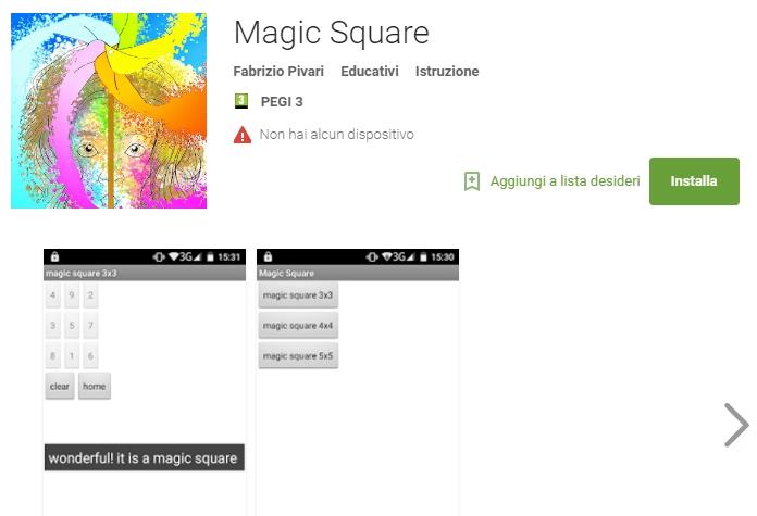 La mia prima app in Google Play