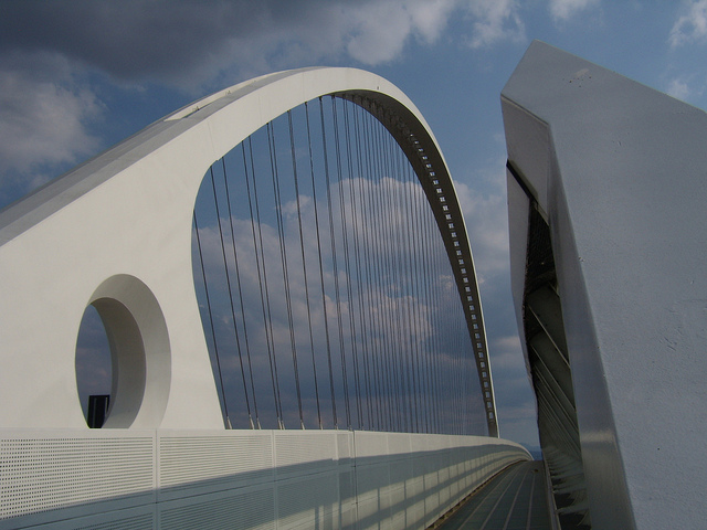 ponte su autostrada, Reggio Emilia, Santiago Calatrava