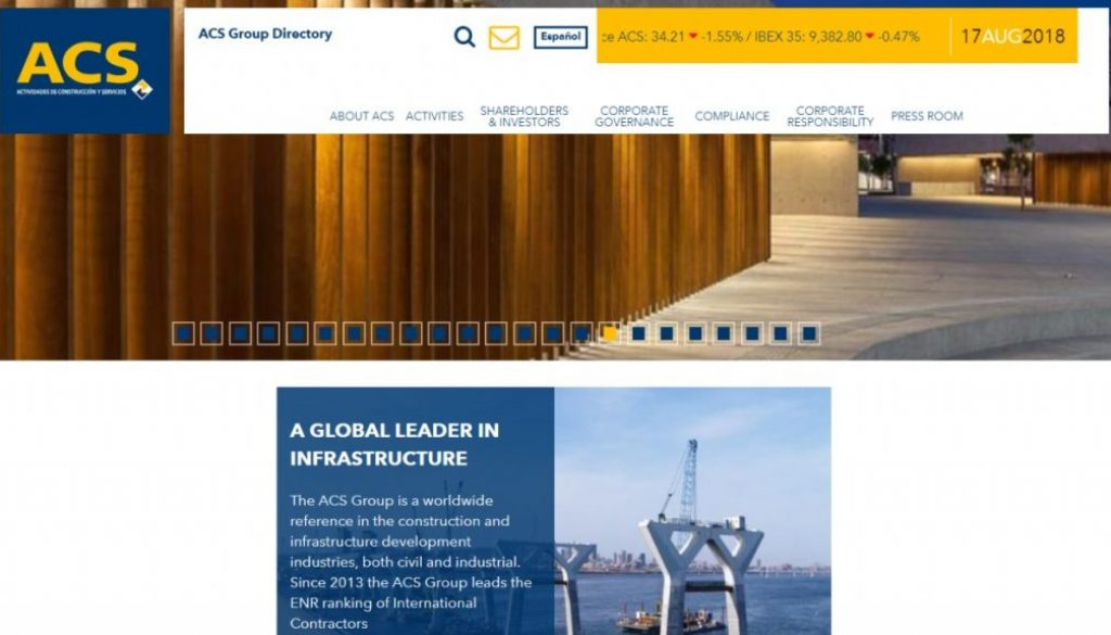 ACS a global leader in infrastructure