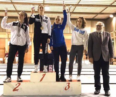 2019 regionali veneti fioretto Irene Pivari bronzo assoluti, argento giovani