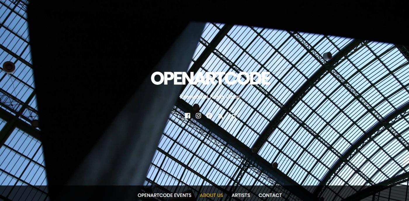 Sito del gruppo Open Art Code realizzato con WordPress e Themify