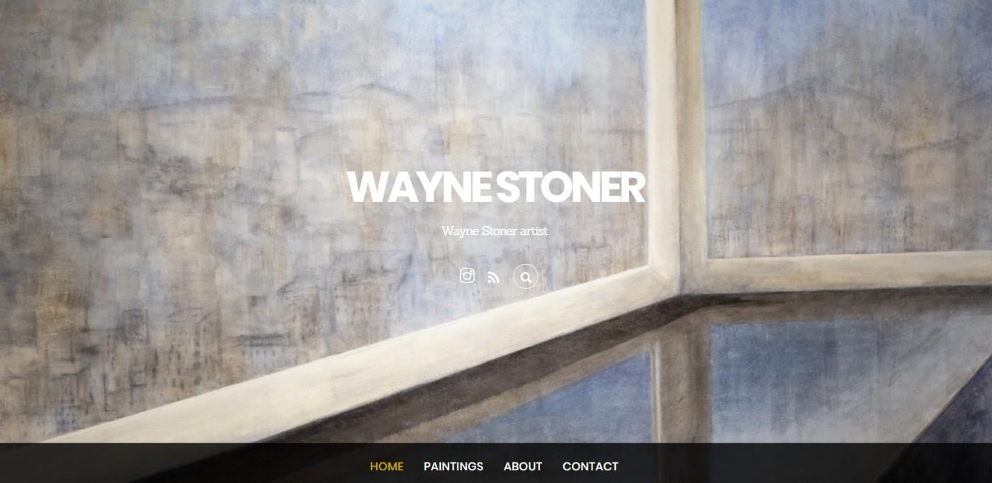 Sito dell'artista Wayne Stoner realizzato con WordPress e Themify