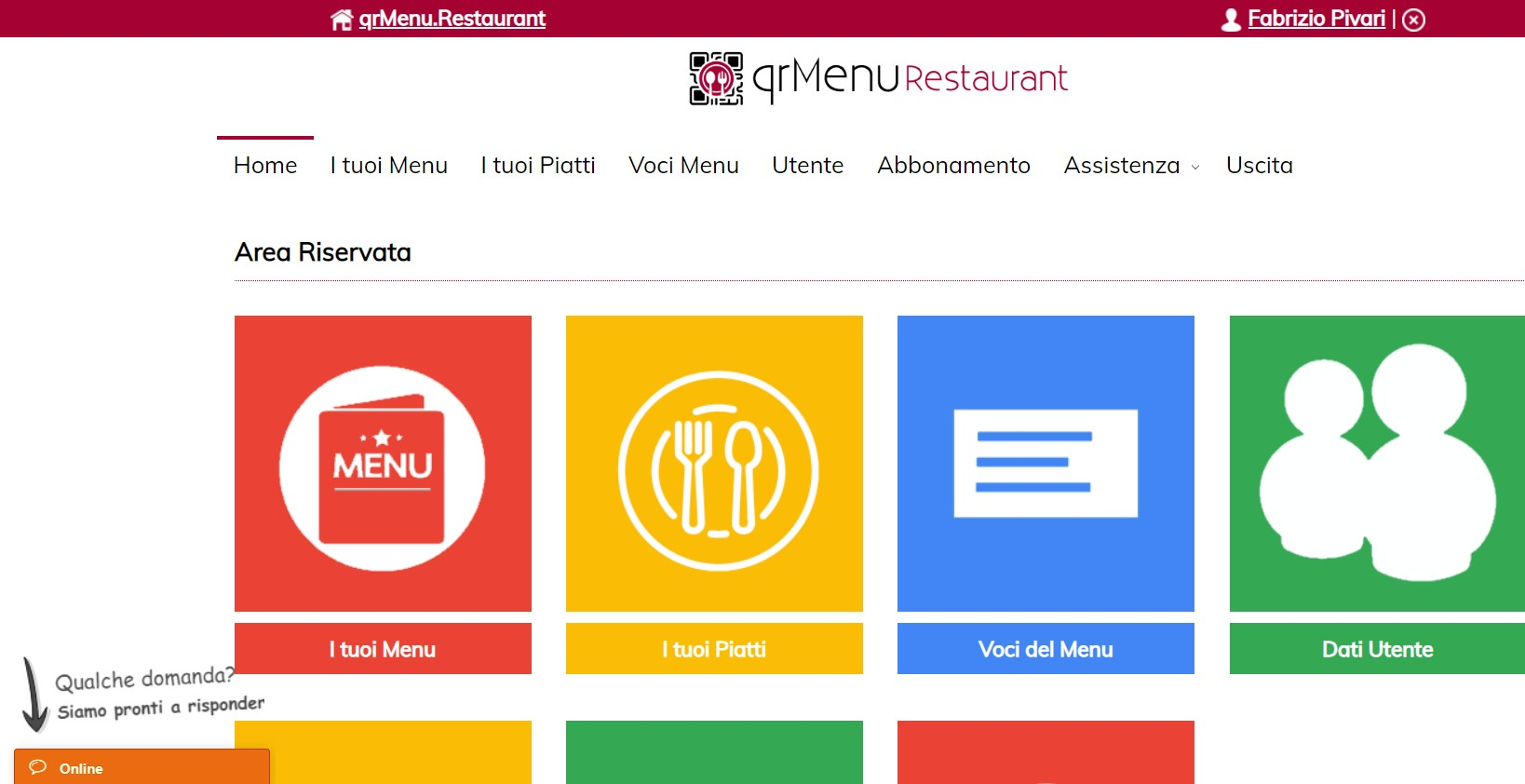 creare menu qrmenu.restaurant