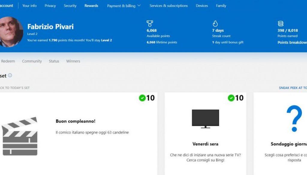 premi Microsoft account
