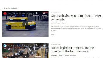 La logistica (logistics) con la tecnologia (tech)