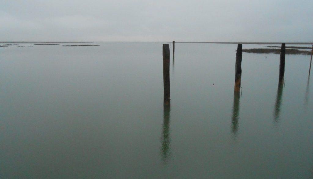 laguna veneziana, pioggia, Virgilio Guidi