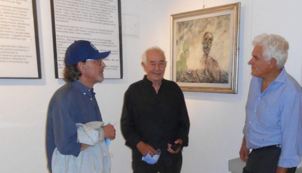 quadro speciale anni 70 Chiesi terzetto Michele De Palo, Giorgio Chiesi, Fabrizio Pivari