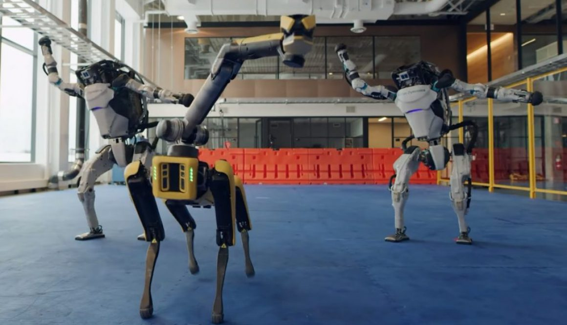 robot Boston Dynamics balletto Capodanno