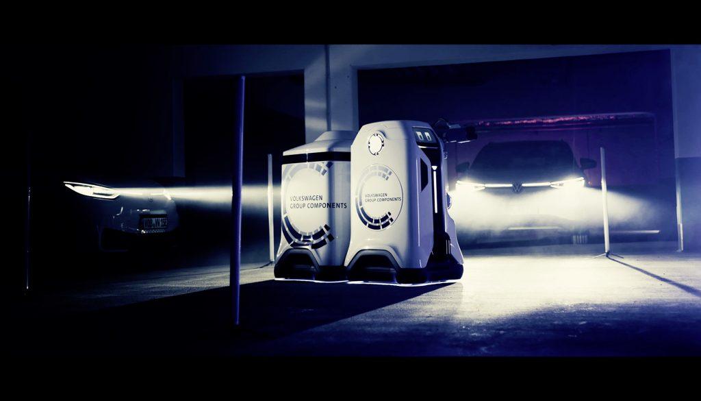 robot ricarica batterie di Volkswagen