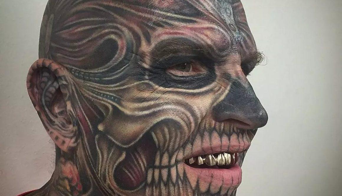 tatuaggio viso