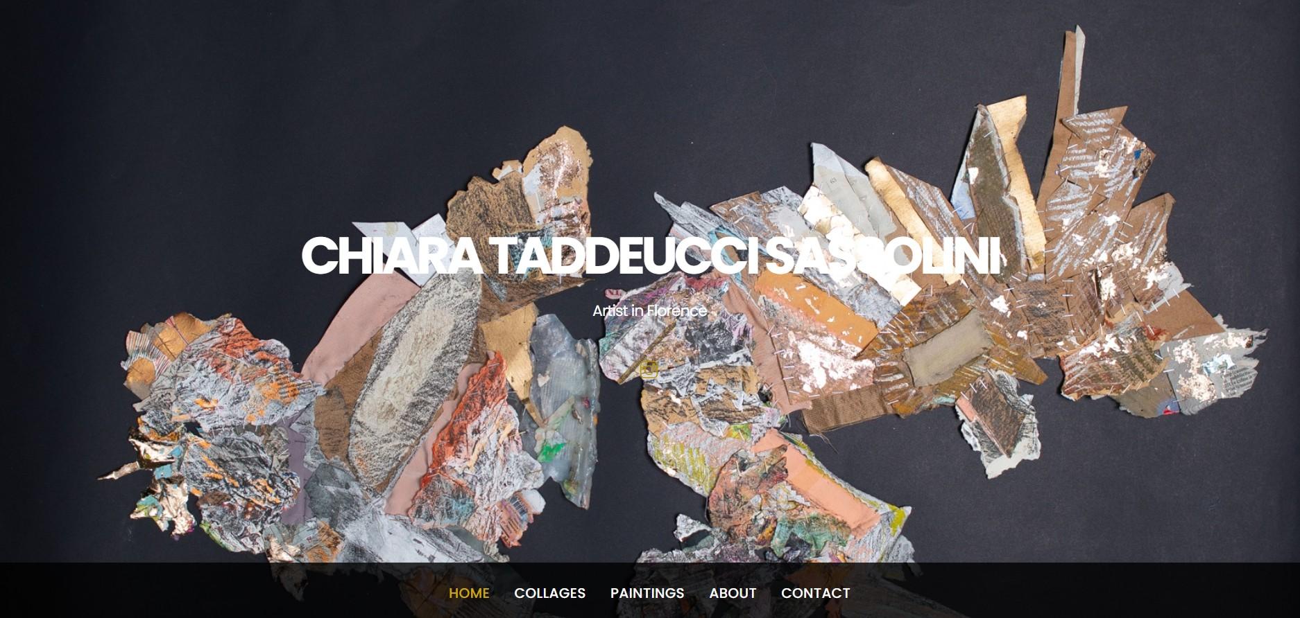 Sito dell'artista Chiara Taddeucci Sassolini realizzato con WordPress e Themify