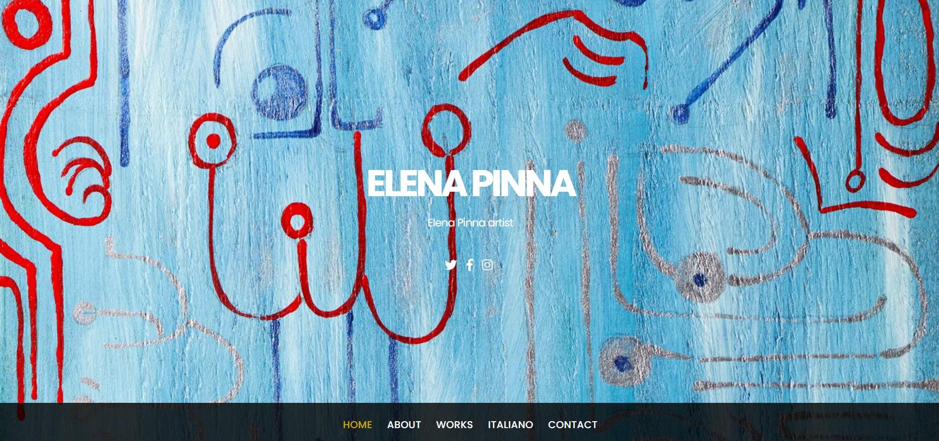 Sito dell'artista Elena Pinna realizzato con WordPress e Themify
